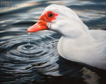 Duck Painting Art Print ~ Giclee Reproduction of Original Pastel Artwork ~ FREE SHIPPING