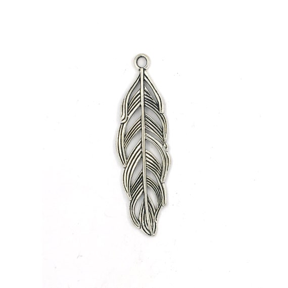 """Great charm - silver colored """"Feather"""""""