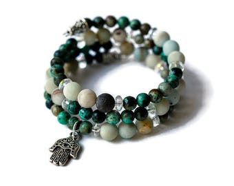 Chakra Bracelet Wrap Bracelet Gemstone Bracelet beaded wrap bracelet triple wrap bracelet beaded bracelet love bracelet stretch bracelet
