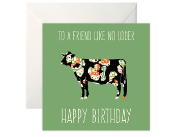 Cow birthday card etsy cow birthday card bookmarktalkfo Images