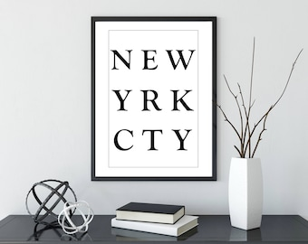 New York Poster | Prints | Home Decor | Travel | Wall Decor | Wall Art | Travel Gift | Wanderlust