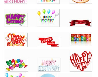 Digital Pary Supplies, 65 Pack Cliparts, Large Cliparts, Full Page Cutout,Transparent Background, Transfer Template for Crafts, Craft Supply
