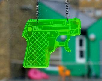 Water Pistol Necklace - Big Pistol - (Range of colours)