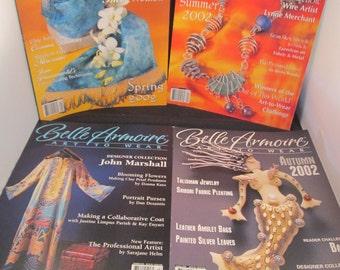 Belle Armoire Art To Wear: 4 Issues Spring, Summer, Autumn 2002 & Summer 2003 Fashion Design Magazine Crafting