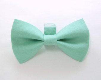 Mint  Dog Bow Tie / Wedding Dog Bow/Dog Bow Tie/Mint Dog Bowtie