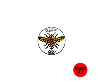 Always Busy Enamel Pin / Soft Enamel Pin / Lapel Pin / Punk Pin / Pin Badge / Seconds Enamel Pin