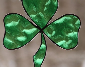 Stained Glass Enchanted Shamrock