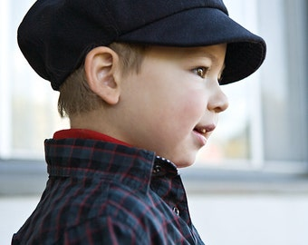 Newsboy cap for kids in organic cotton. Wedding cap for children. Newsboy hat. Select your color.