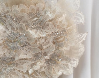 Lace Flower Sequin Wedding Brooch