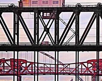 Steel Bridge, Broadway Bridge, Fremont Bridge, Portland Bridges Art, Fine Art Photograph