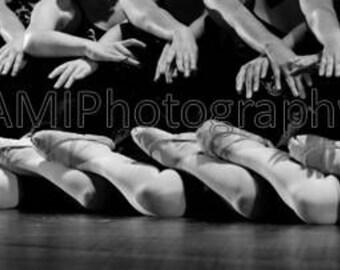 Ballet Dancers Studio Wallpaper Photo Black White Digital Print