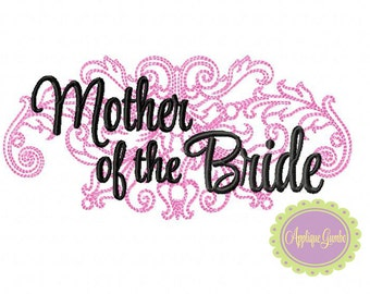 Mother of the Bride Damask Machine Embroidery Design