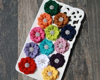 "Crochet Dog  Collar Flower ""You Pick"""