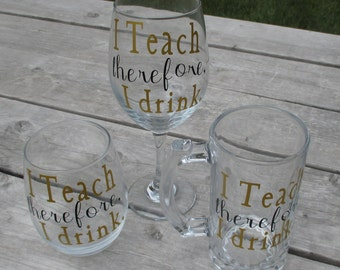Teacher Wine Glass/ beer mug
