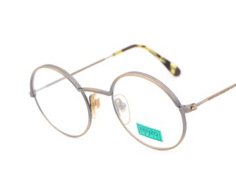vintage round eyeglasses Kenzo Oscar K17 made in France 1980