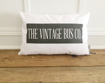 The Vintage Bus Co. Pillow Cover