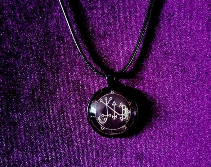 Sigil of Balam Pendant - occult left hand path goetia demon demonic goth gothic sigil