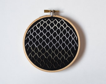 Black Ombre Embroidery Hoop