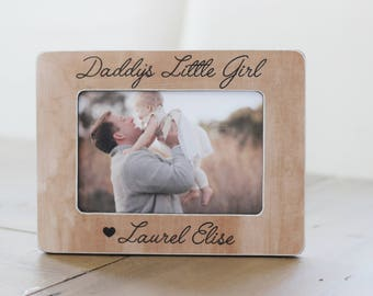 Dad Gift Personalized Picture Frame, Father Daughter, Daddy's Little Girl, Gift from Daughter, New Dad, Daughter