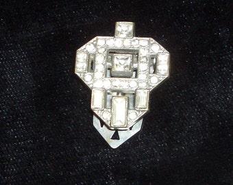 diamante lapel clip 1930s