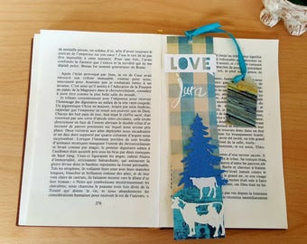 Bookmarks classic reinforced customizable: LOVE Jura