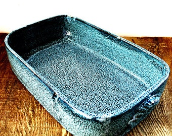 Cobalt Blue Lasagna Casserole Stoneware Pottery Ready to Ship