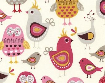 Birds Cream - 1 yard Cut - Timeless Treasures - Cotton Fabric - Quilting Fabric - Birds Fabric