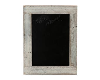 Barnwood Framed Chalkboard   29 x 23 - Whitewash