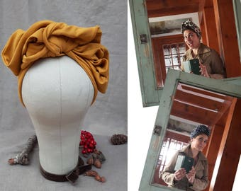 Listing for Julietta: Curry & Black Turbans Headband