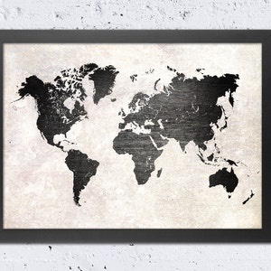 Metal world map etsy world map print world map silhouette rustic metal texture vintage old wall texture gumiabroncs Images