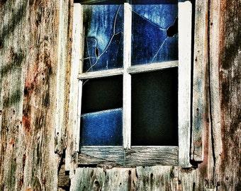 Abandoned Barn Window - 8 x 10 FIne Art Photography -Home Decor - Office Decor