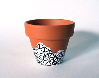 Hand Drawn Geometric Plant Pot