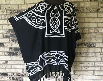 Plus Size Lightweight Rayon Tunic Celtic Design