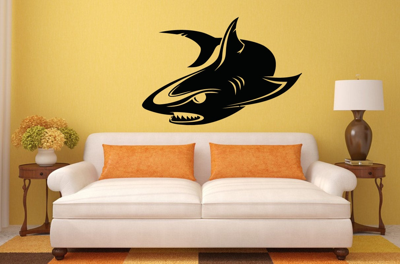 Wall Vinyl Sticker Decals Mural Room Design Decor Art Shark
