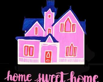Home Sweet Home - Blank Notecard - Greeting card