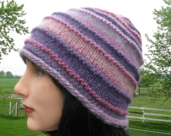 Alpaca Wool Knit Hat for Men and Women - Slouch Hat - Winter Beanie - Cloche