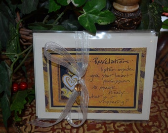 REVELATION CARD SET art therapy collage inspirational hope recovery abuse trauma recovery survivors