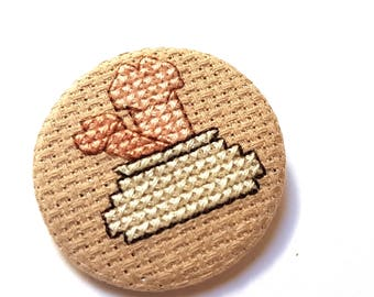 Bag of Dicks Pin-Adult Badge-Cross Stitch Accessory-Gag Gift-Penis Art-Gift for Guys-Hen Night Wear-38mm-1.5inch-Handmade Gift-Funny Brooch