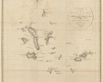 Galapagos Islands Map - 1793
