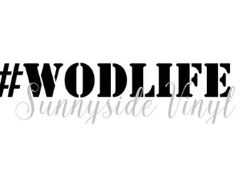 WOD LIFE decal