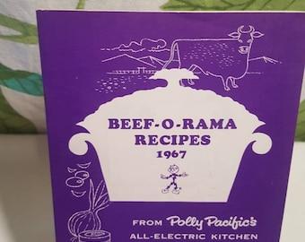 Vintage 1967 Beef-O-Rama Recipe Booklet