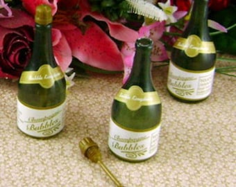 Twelve Champagne Bottle bubbles for wedding and more