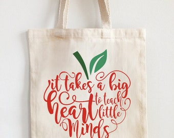 Teacher appreciation canvas tote bag