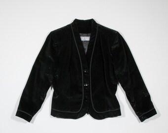 YVES SAINT LAURENT - velvet lamin jacket