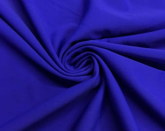 "Royal Blue Lycra Matte Milliskin Nylon Spandex Fabric 4 Way Stretch 58"" wide Sold By The Yard"