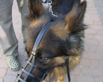 Bespoke Premium Leather Muzzle