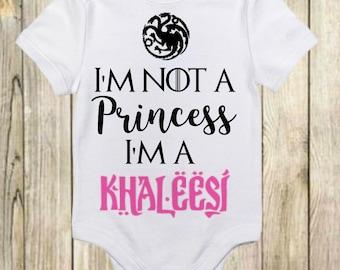 Mother of Dragons Shirt - Khaleesi Shirt - I'm Not a Princess I'm a Khaleesi Onesie®- Game of Thrones - Game of Thrones Baby-Khaleesi Onesie