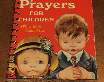 Prayers for our Children Journal: Upcycled Little Golden Book (Red Version)
