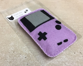 Felt Catnip Toy Gameboy