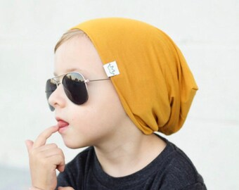 Mustard slouchy beanie / Slouch beanie / Slouchy hat baby / Beanie toddler / Baby beanie boy /Toddler beanie /Slouchy boy beanie